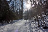 Verschneiter Weg zum Keudelstein