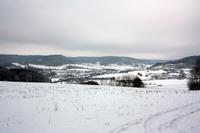 Winterblick auf Lengenfeld unterm Stein von der Birke