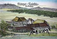 RittergFarbige Zeichnung des Rittergutes Keudelstein
