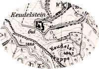 Das Gut Keudelstein  - Kartenansicht (1930er Jahre)