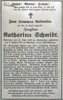 Katharina Schmidt - Nachruf