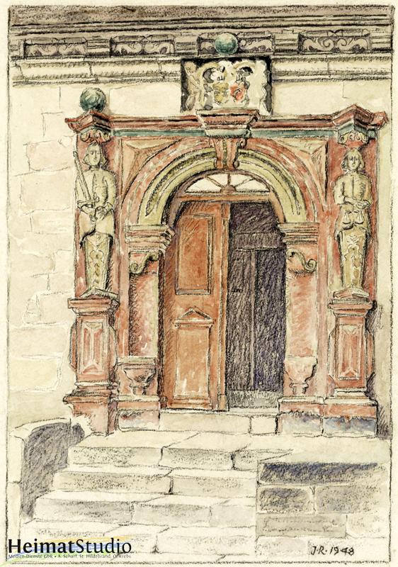 Keudelstein - Zeichnung des Eingangsportals