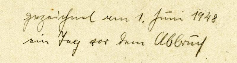 Keudelstein - Notiz des Malers Joseph Richwien